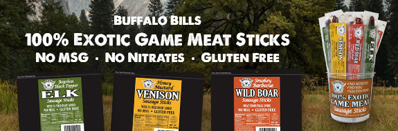 Buffalo Bills 100% Exotic Game Meat Sticks - No MSG, No Nitrates, Gluten Free