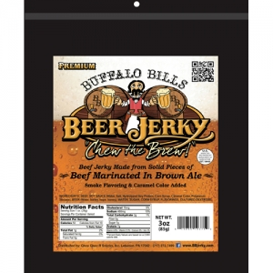 Buffalo Bills Premium Beer Jerky - 3oz Resealable Packs