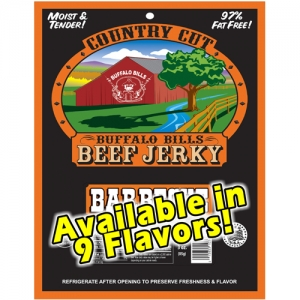 Buffalo Bills Country Cut Beef Jerky - 3.5oz Packs