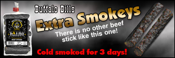 Buffalo Bills Extra Smokeys - Cold smoked for 3 days!