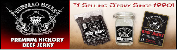 Buffalo Bills Premium Hickory Jerky - #1 Selling Beef Jerky Since 1990!