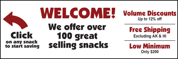 Welcome to WholesaleSnacks.com - We offer over 100 great selling, volume discount snacks with free shipping.