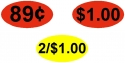 Price Stickers - $2.00 and Below (1,000 Per Roll)