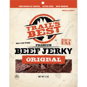 Trail's Best Hickory Smoked Beef Jerky - 3oz Packs